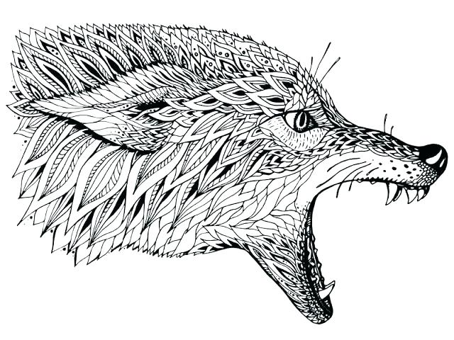 Wolves Coloring Pages Pictures