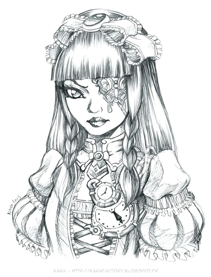 Gothic Coloring Pages Picture - Whitesbelfast
