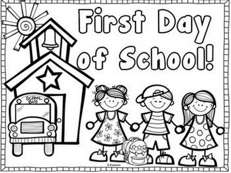 - First Day Of School Coloring Pages For Kindergarten Www.tuningintomom.com