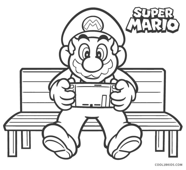 Mario Bros Coloring Pages Ideas Whitesbelfast