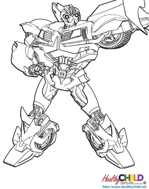 Transformers Coloring Pages Printable Transformer Page Free For ... | 762x600
