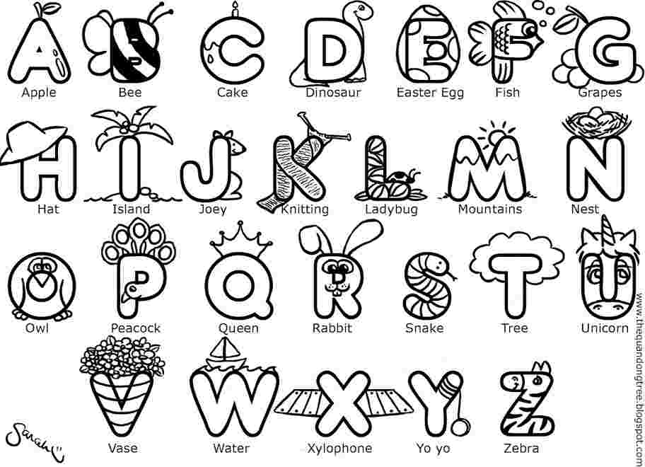 - Alphabet Coloring Pages Pictures - Whitesbelfast