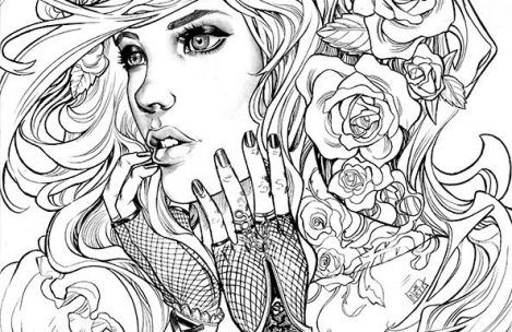 Printable Adult Coloring Pages People Pictures To Download -  Whitesbelfast.com