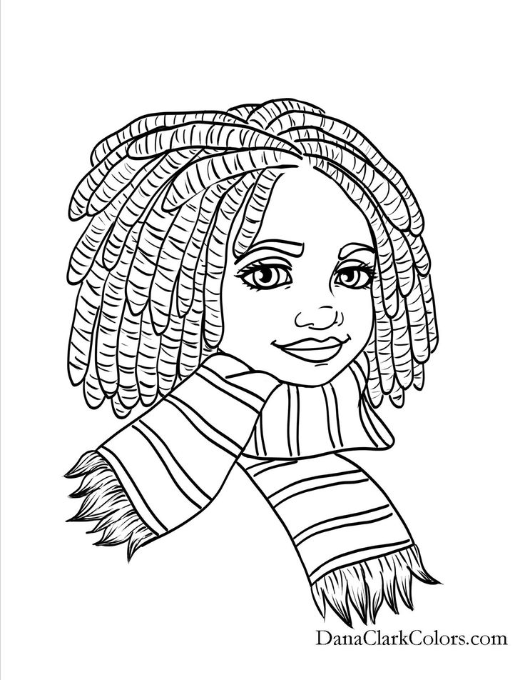 Black Girl Coloring Pages Free Printable Images - Whitesbelfast.com