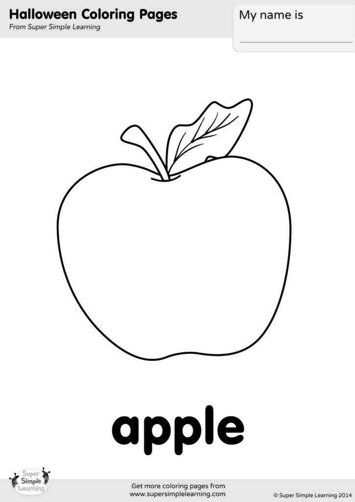 Apple Coloring Pages Idea Whitesbelfast