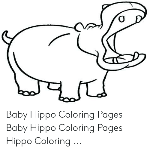Hippo Coloring Pages Gallery Whitesbelfast Com