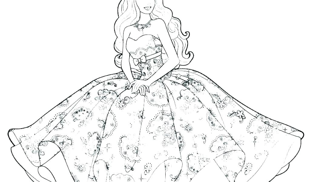 Images Of Barbie For Colouring Robertdee.org