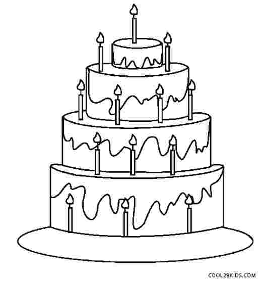 Birthday Cake Coloring Pages Gallery Whitesbelfast Com