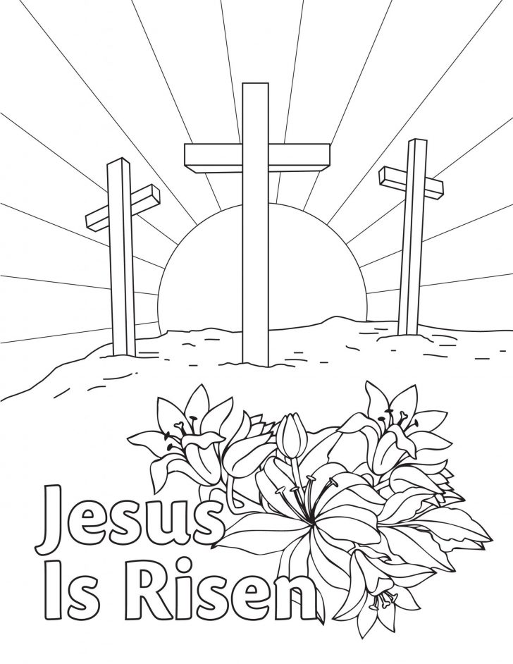 Religious Easter Coloring Pages Pictures Whitesbelfast Com