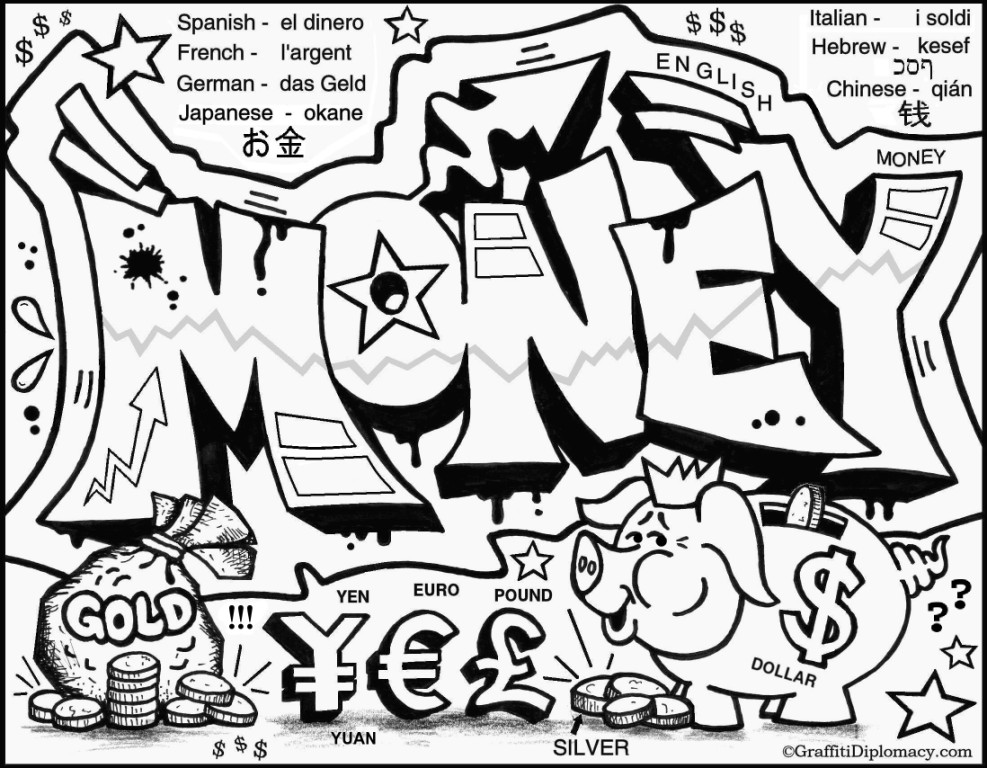 Graffiti Coloring Pages Pictures Whitesbelfast