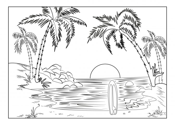 Sunset Coloring Pages Pictures - Whitesbelfast