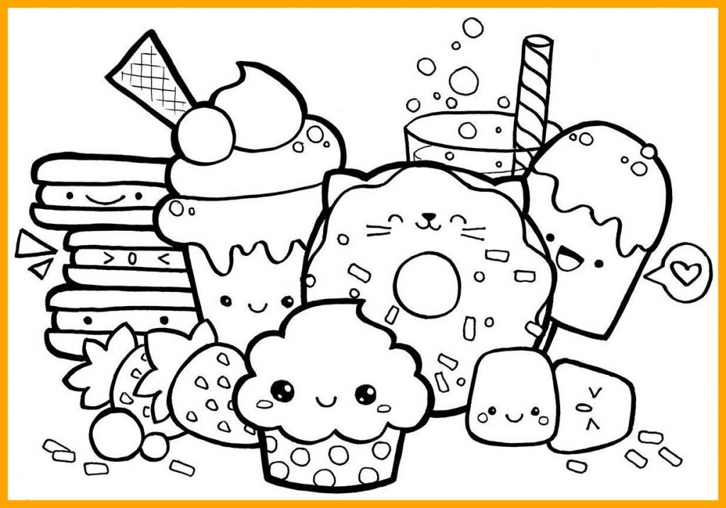 Cute Food Coloring Pages Collection - Whitesbelfast