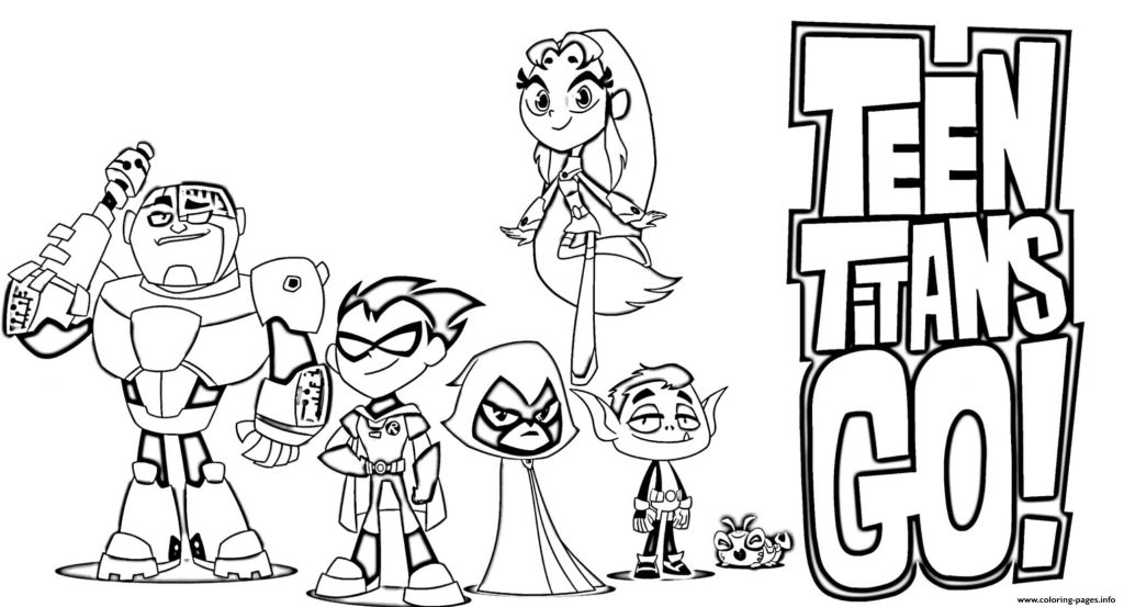 Teen Titans Go Coloring Pages Gallery Whitesbelfast Com