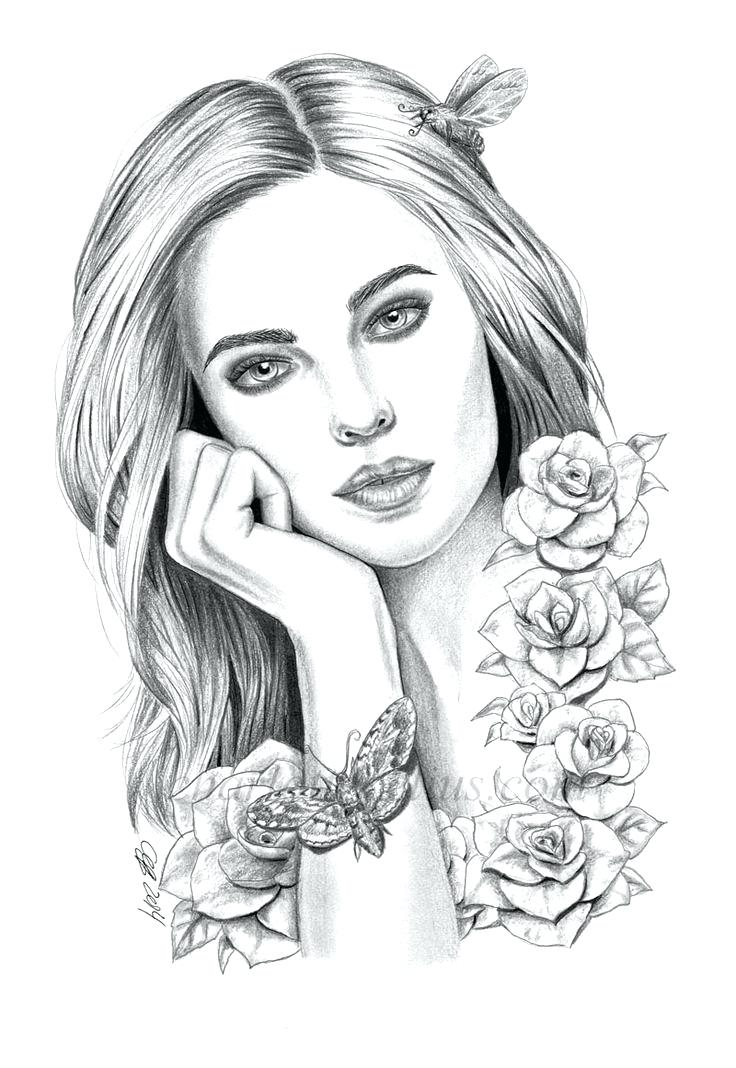 Adult Coloring Pages People Pictures - Whitesbelfast