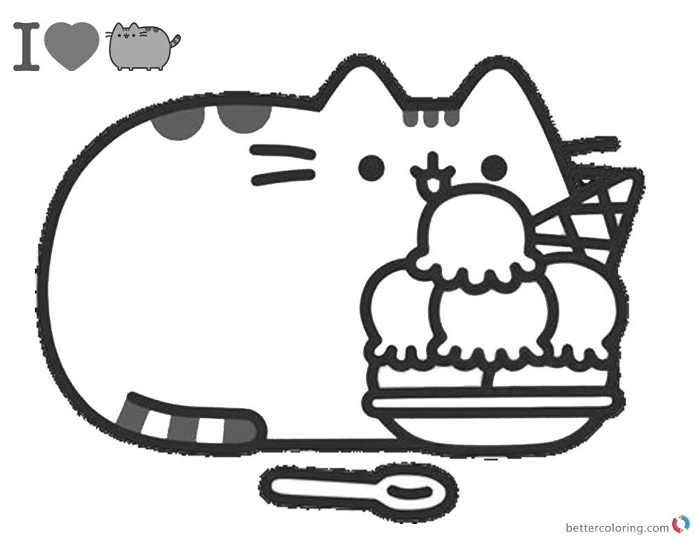 Pusheen Coloring Pages Online Free