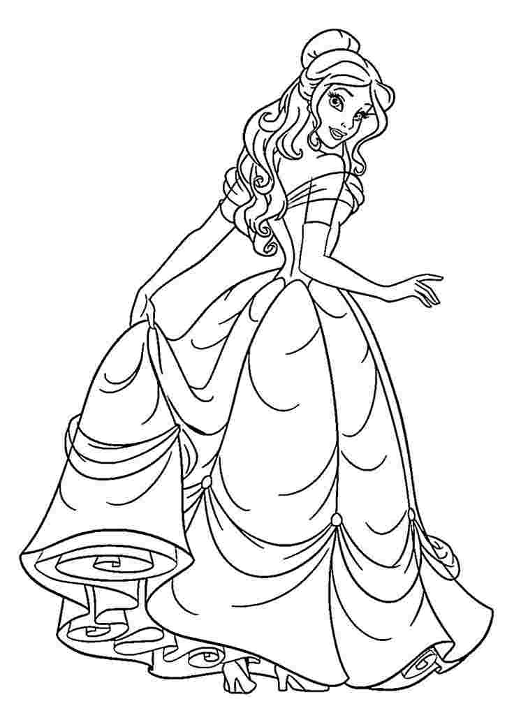 princesses pictures to color