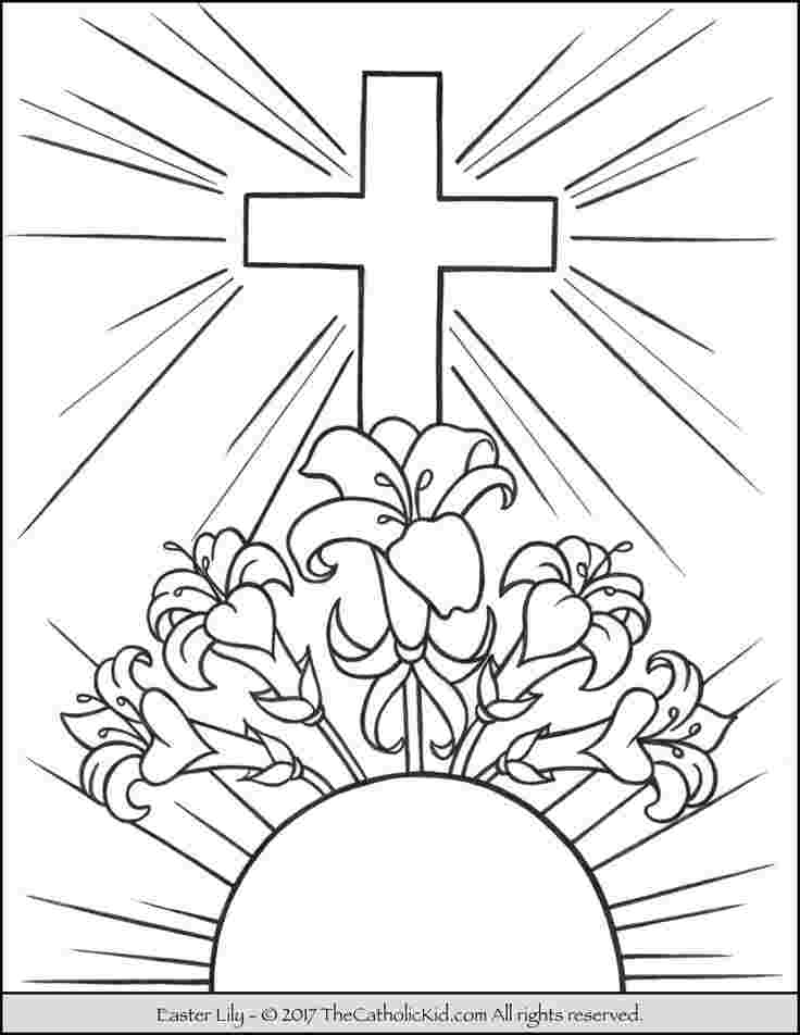 Easter Coloring Pages Religious Pictures Whitesbelfast Com