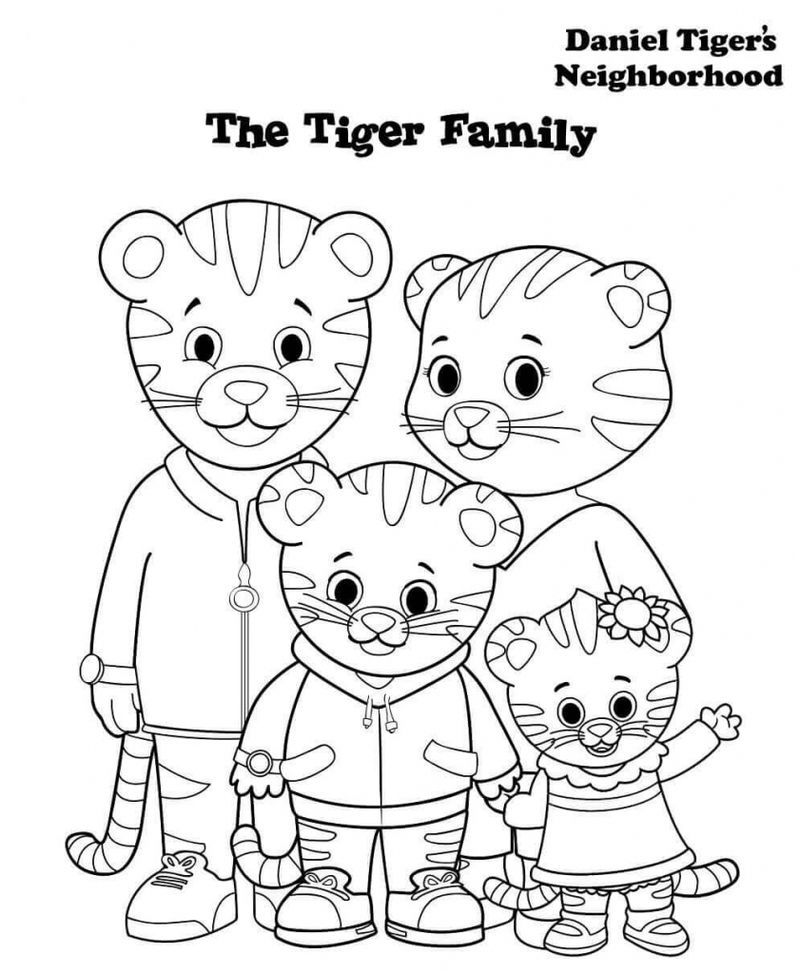 Daniel Tiger Coloring Pages Www.robertdee.org