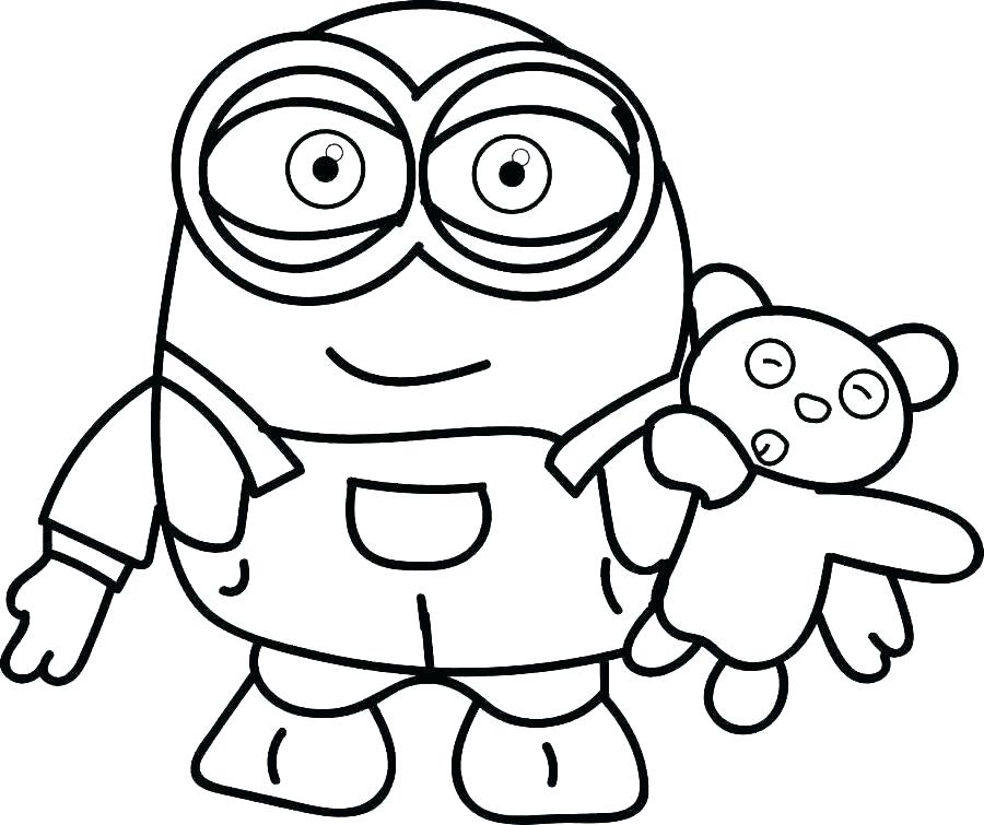 Despicable Me 3 Minions coloring page | Free Printable Coloring Pages | 755x900