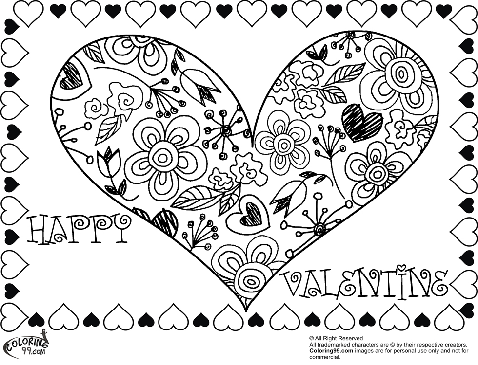 Have fun with this coloring page about Valentine's Day. Here, a ... | 750x980