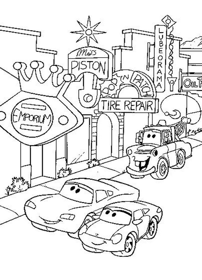 Disney Cars Coloring Pages Pictures - Whitesbelfast