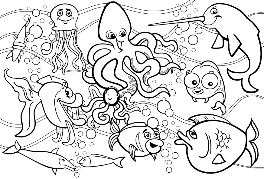 Underwater Coloring Pages Picture Whitesbelfast Com