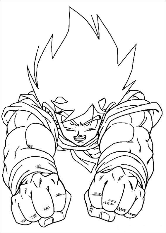 Dragon Ball Gt Goku Ssj Coloring Page Coloring Pages Printable | 794x567