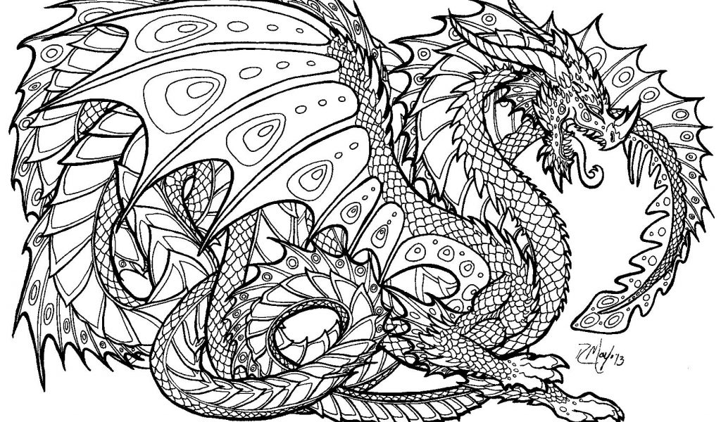 Coloring Pages Dragons Idea - Whitesbelfast.com