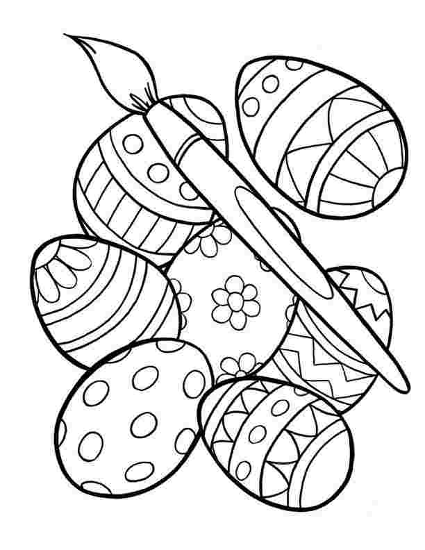 Detailed Easter Egg coloring page | Free Printable Coloring Pages | 792x612