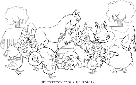 - Farm Animals Coloring Pages Gallery - Whitesbelfast