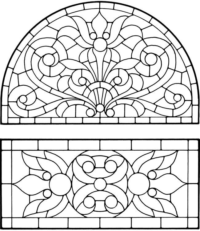 Christmas Angel Stained Glass coloring page | Free Printable ... | 750x650