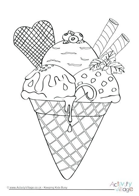 Ice Cream Coloring Pages Picture - Whitesbelfast