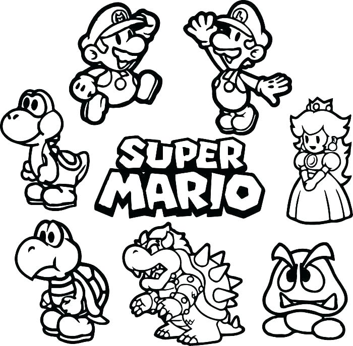 Mario Coloring Pages Collection Whitesbelfast