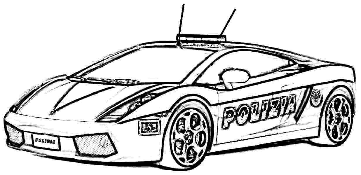 - Police Car Coloring Pages Pictures - Whitesbelfast