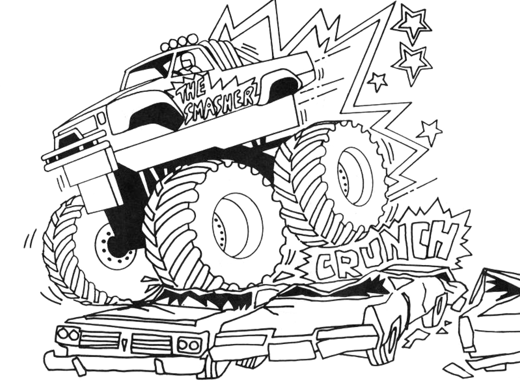 Monster Jam Coloring Pages Gallery Whitesbelfast