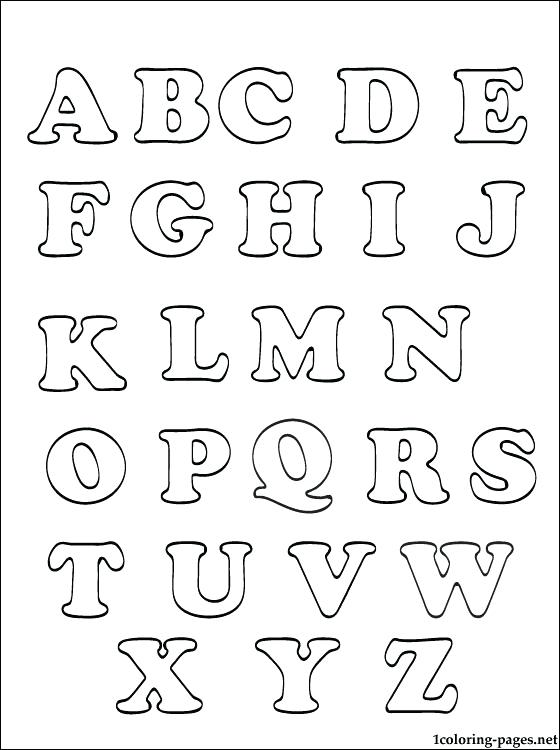 Abc Letters For Coloring Www.robertdee.org