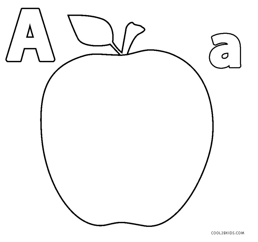 Apple Coloring Pages Idea - Whitesbelfast | 798x850