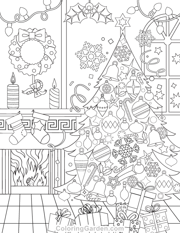 Holiday Coloring Pages: An Oversized Christmas Coloring Page Printable | 776x600