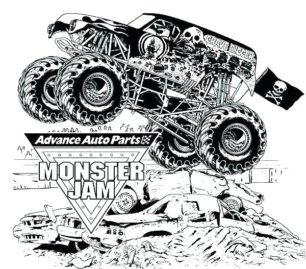 It's just a photo of Free Printable Monster Truck Coloring Pages with regard to kids
