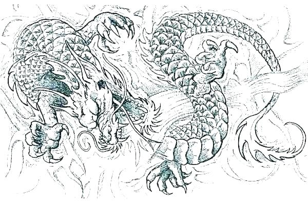 Free Realistic Dragon | Coloring Pages For Adults, Download Free ... | 400x600