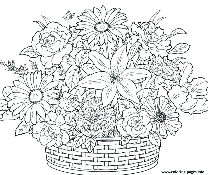 - Flower Coloring Pages For Adults Picture - Whitesbelfast