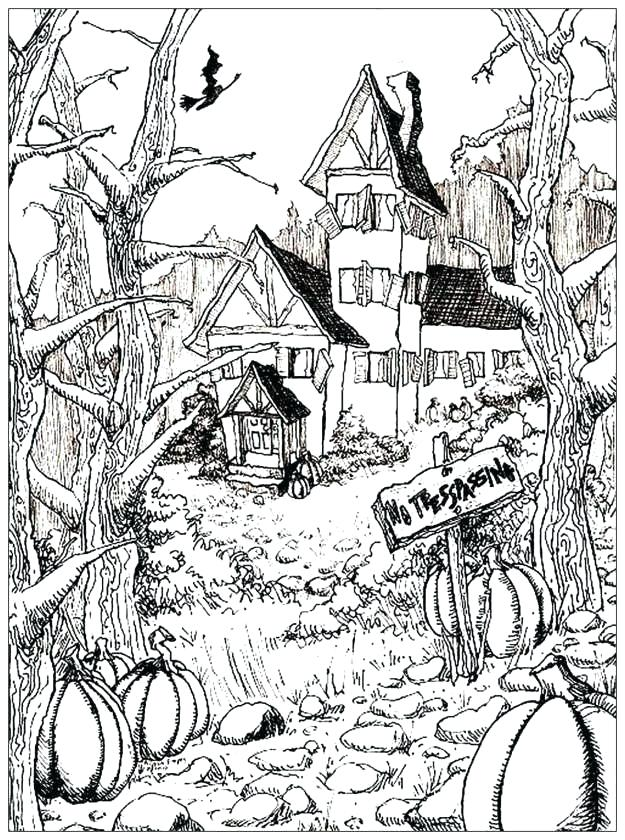 Creepy Coloring Pages Pictures - Whitesbelfast