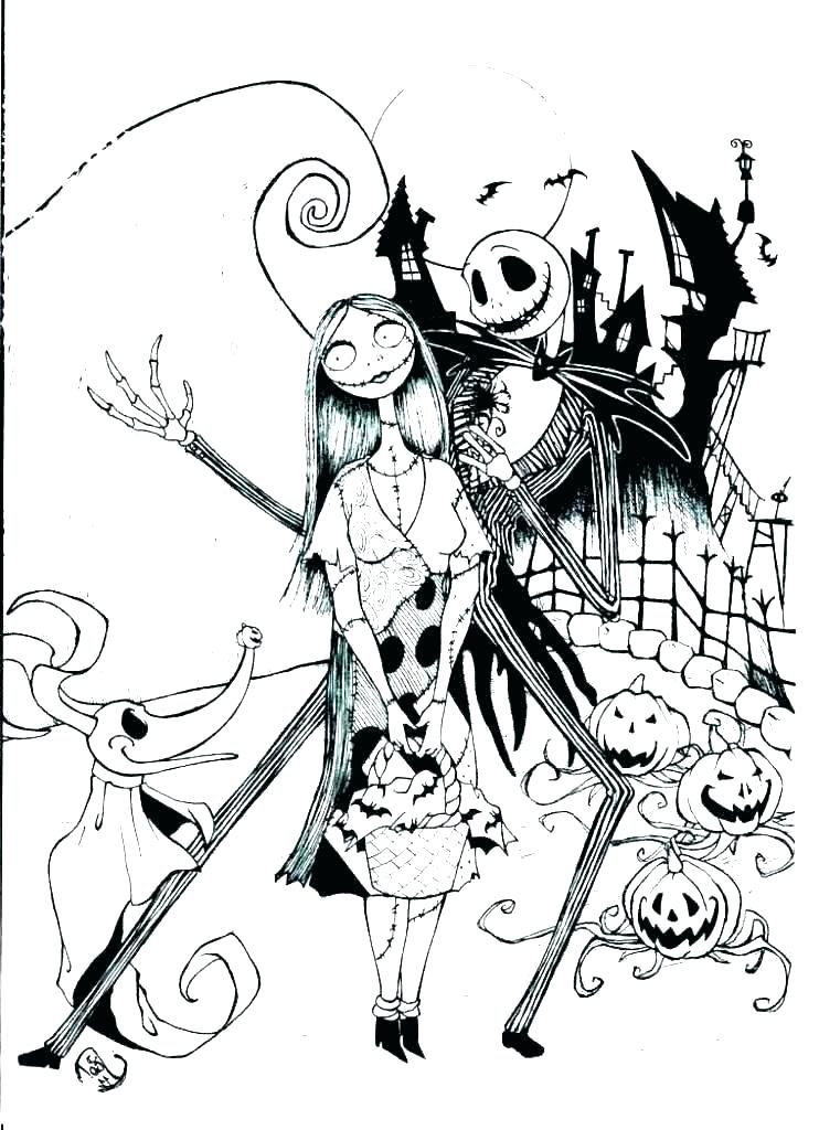Nightmare Before Christmas Coloring Pages Idea - Whitesbelfast.com