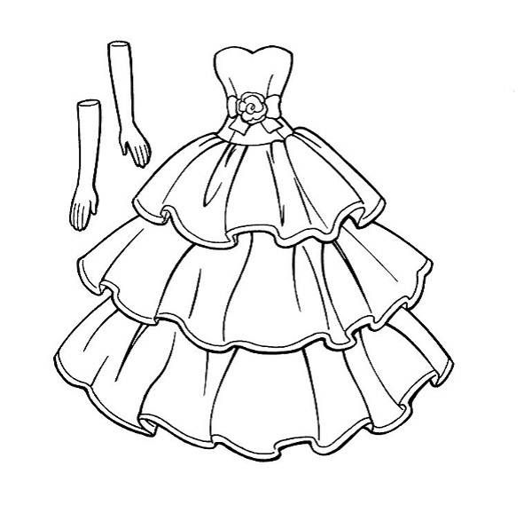 Dress Coloring Pages Printable Picture Collections - Whitesbelfast.com