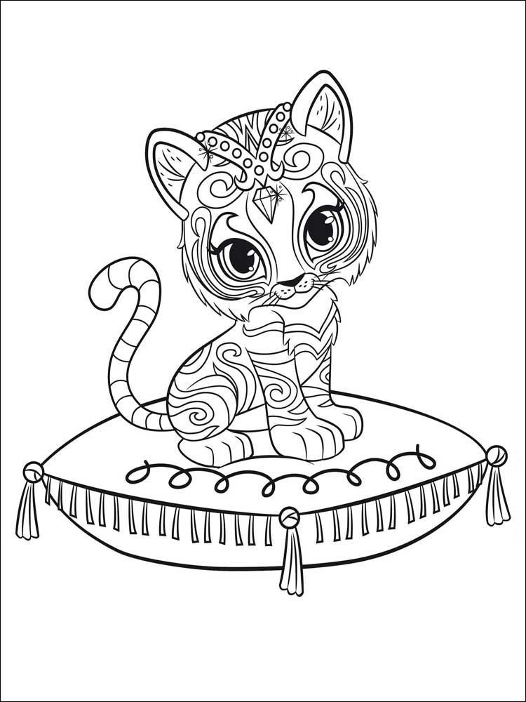 Shimmer And Shine Coloring Pages Free Printable | 1000x750