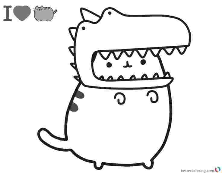 Coloring Pages Pusheen Pictures Whitesbelfast
