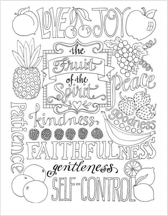 Fruit Of The Spirit Coloring Pages Idea - Whitesbelfast.com