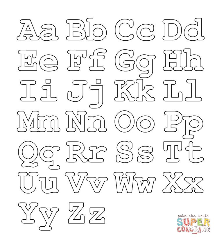 Letter Coloring Pages Idea Whitesbelfast