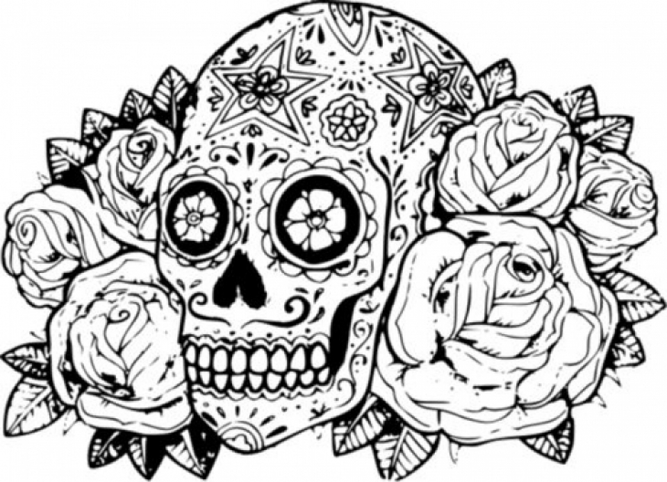 Skull Coloring Pages Collection Whitesbelfast