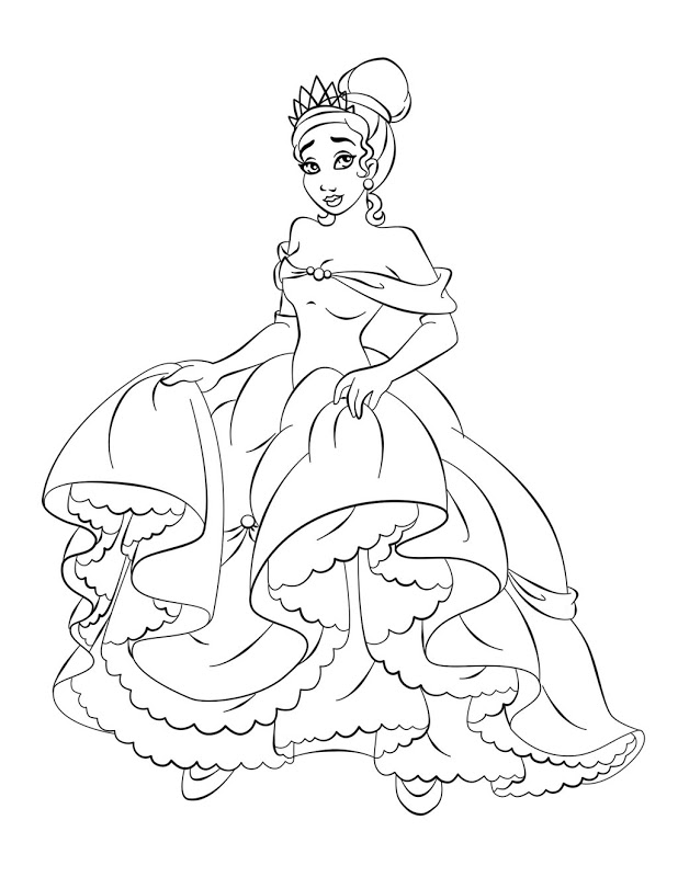 Tiana Coloring Pages Pictures Whitesbelfast